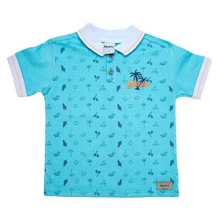 Camiseta Gola Polo Summer Minore Azul