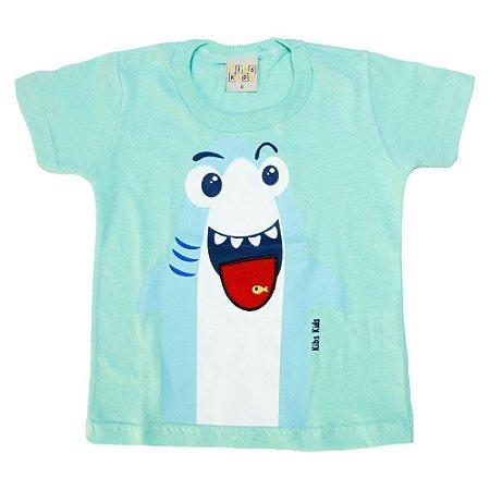 Camiseta Bebê Shark Kibs Kids Verde