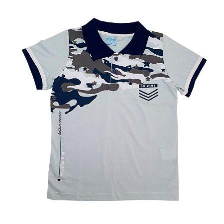 Camisa Juvenil Gola Polo Wilbertex Cinza