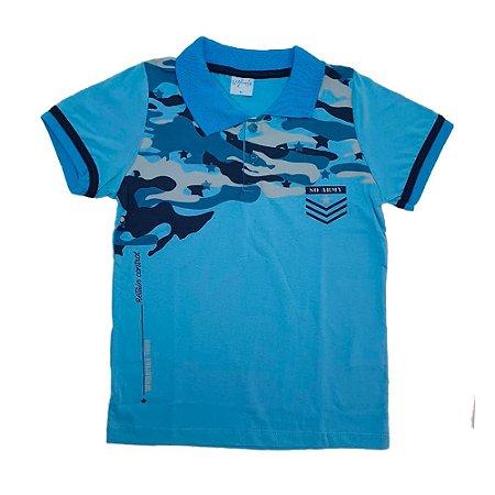 Camisa Juvenil Gola Polo Wilbertex Azul