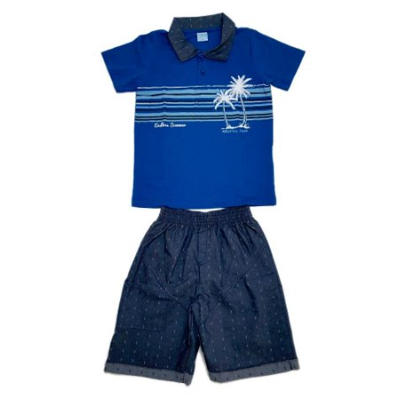 Conjunto Juvenil Polo Wilbertex Royal
