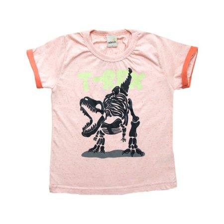 Camiseta Infantil T-Rex Ralakids Laranja