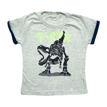 Camiseta Infantil T-Rex Ralakids Cinza