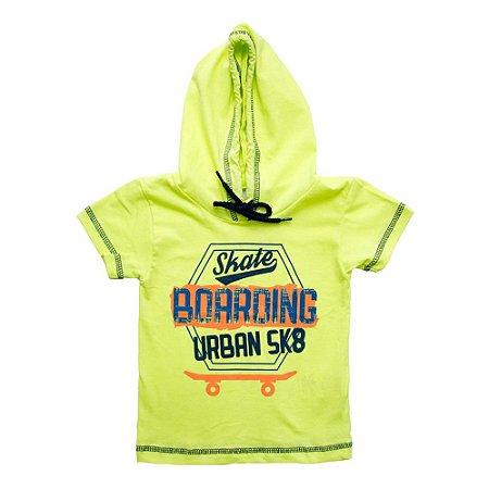 Camiseta Infantil Com Capuz e Cadarço Ralakids Amarelo