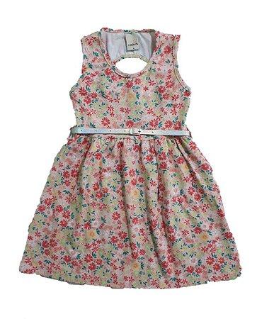 Vestido Infantil Floral Ralakids Salmão
