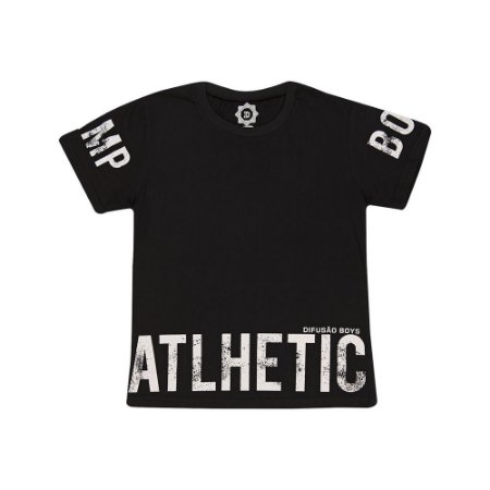 Camiseta Juvenil Atlhetic Difusão Preto