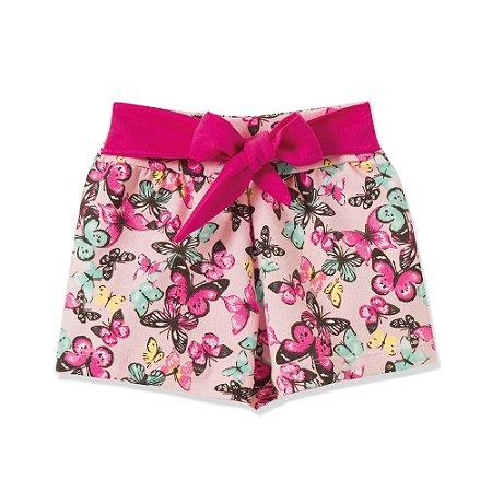 Shorts Infantil/Juvenil Amarradinho Fantoni Rosa