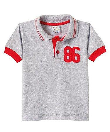 Camiseta Infantil Gola Polo Fantoni Mescla