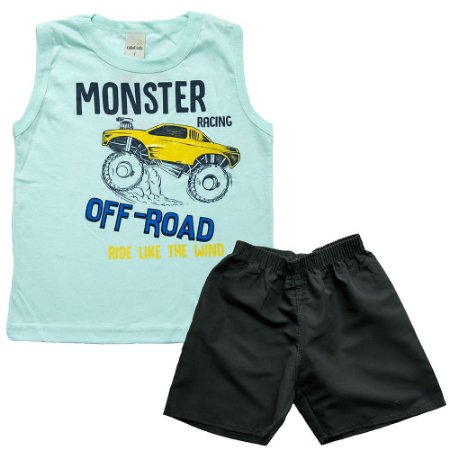 Conjunto Infantil Monster Off Road Ralakids Verde