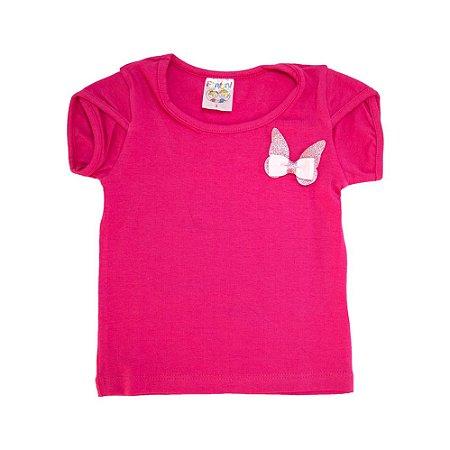 Blusa Infantil Borboleta Fantoni Pink