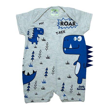 Macaquinho Bebê Dino Azul Jeito Inocente Mescla
