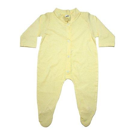 Macacão Bebê Com Pézinho G Kids Amarelo