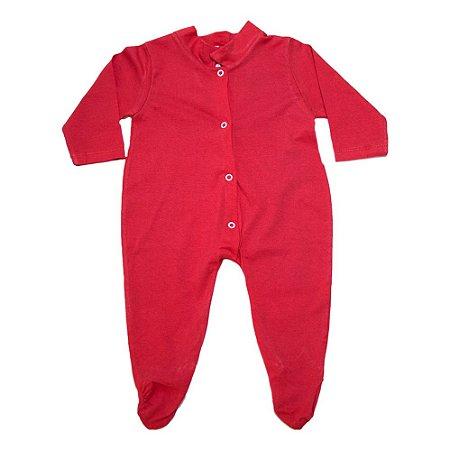 Macacão Bebê Com Pézinho G Kids Vermelho