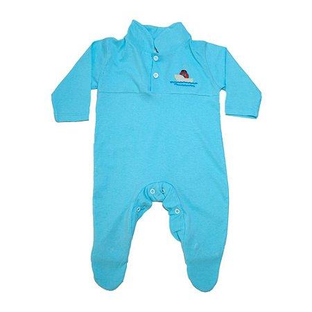 Macacão Bebê Com Aplique G Kids Azul
