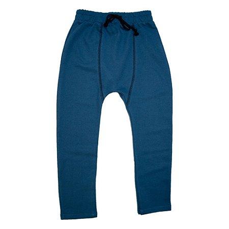 Calça Jogger Infantil Com Recorte Ralakids Azul Petróleo