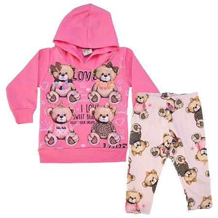 Conjunto Bebê Ursinhos Kibs Kids Rosa