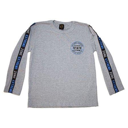 Camiseta Juvenil Manga Longa State Difusão Mescla