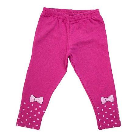 Legging Infantil Laço Wilbertex Pink