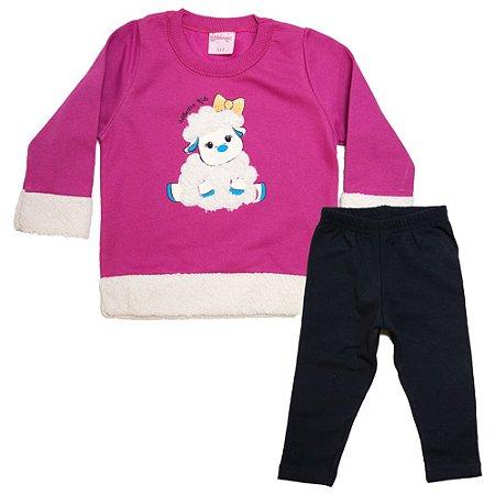 Conjunto Bebê Ovelhinha Wilbertex Pink