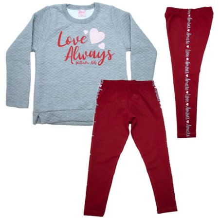 Conjunto Infantil Love Always Wilbertex Mescla
