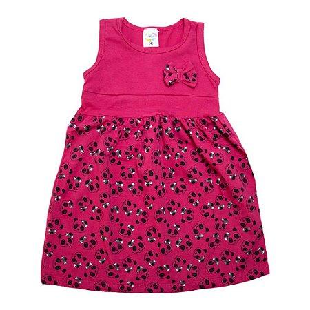 Vestido Infantil Panda Hsa Pink