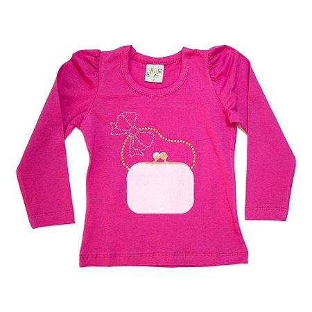 Blusa Infantil Bolsa Kibs Kids Pink