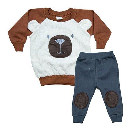 Conjunto Bebê Urso Molekada Marrom