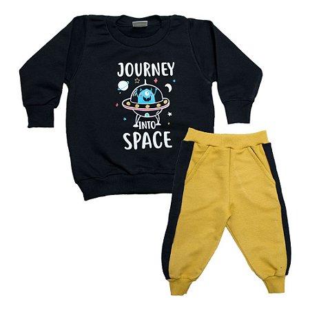 Conjunto Bebê Space Molekada Preto