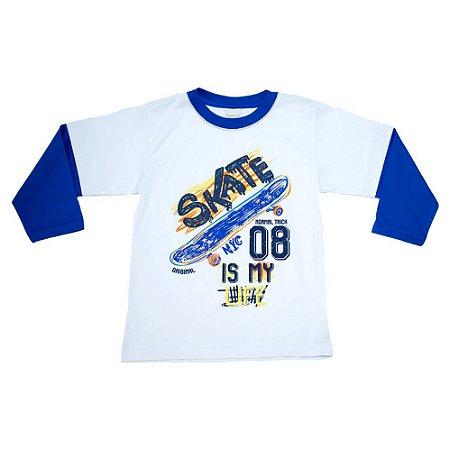 Camiseta Infantil Skate Molekada Branca