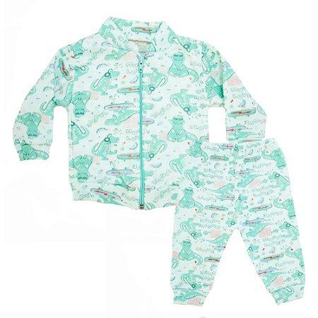 Conjunto Bebê Soft Dino Jeito Inocente Verde