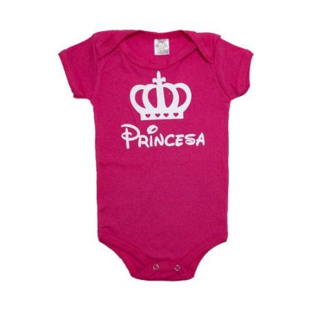Body Bebê Princesa Meu Bebê Rosa Pink