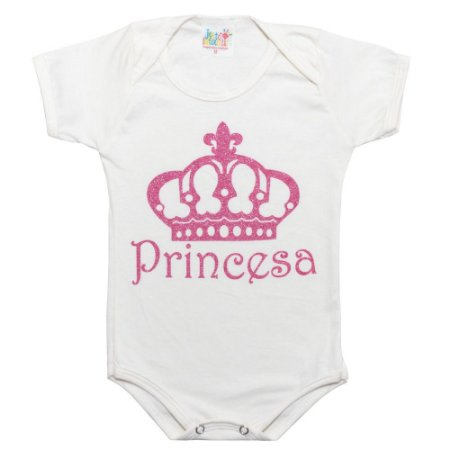 Body Bebê Princesa Jeito Infantil Pérola