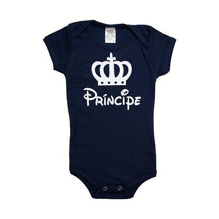 Body Bebê Príncipe Meu Bebê Marinho