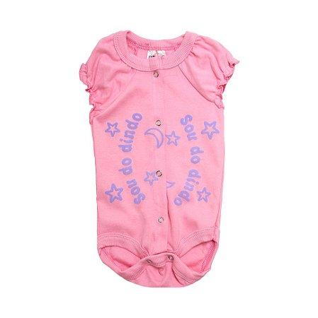 Body Bebê Sou Do Dindo Andrinaty Rosa com Lilás