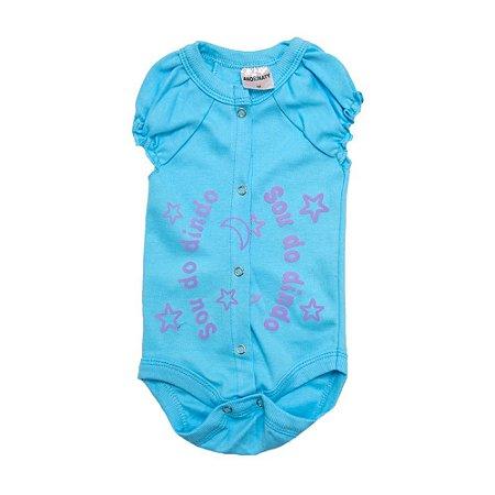 Body Bebê Sou Do Dindo Andrinaty Azul com Roxo