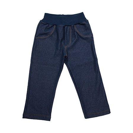 Calça Infantil Cotton Jeans Menina Lolitas Marinho