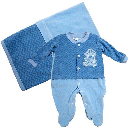 Saída De Maternidade Carrinhos Presente De Anjo Azul