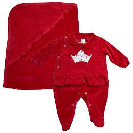 Saída De Maternidade Coroa Presente De Anjo Vermelho