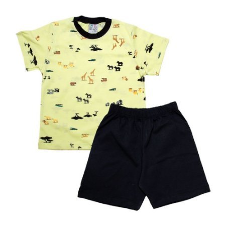 Pijama Infantil Animais Uni Duni Lima