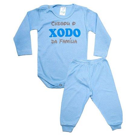 Conjunto Bebê Body Xodó Da Família Pho Azul