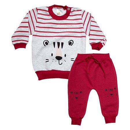 Conjunto Bebê Tigre Isensee Mescla Com Vermelho
