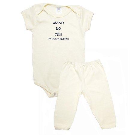 Conjunto Bebê Body Mano Do Céu Meu Bebê Amarelo