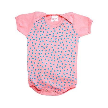 Body Bebê Corações Kentury Rosa