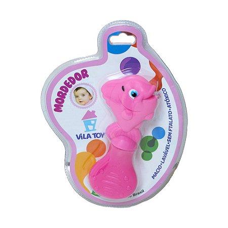 Mordedor Bebê Peixinho Vila Toy Rosa