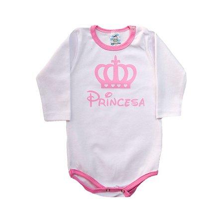 Body Bebê Princesa Anjinho Meu Branco