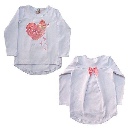 Blusa Infantil Love Inova Kids Branco
