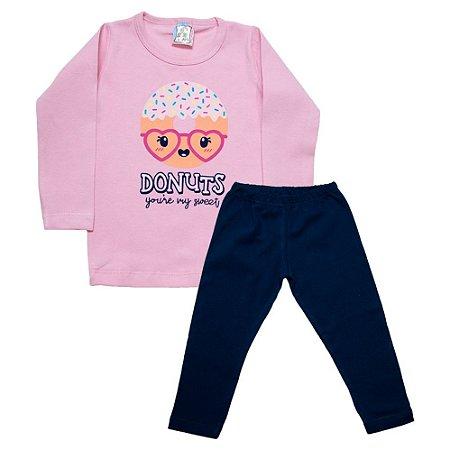 Conjunto Infantil Donuts Inova Kids Rosa
