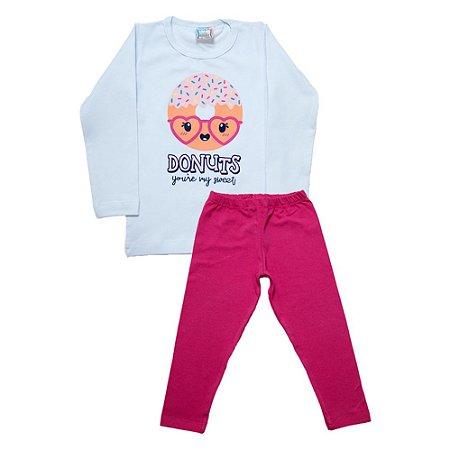 Conjunto Infantil Donuts Inova Kids Branco