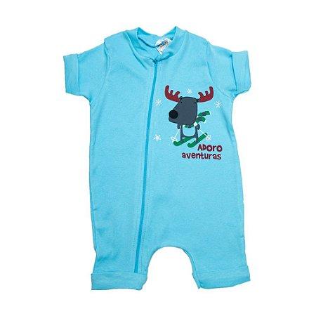 Macaquinho Bebê Rena G Kids Azul