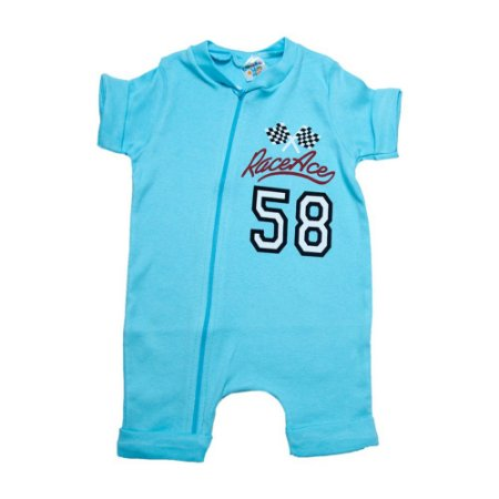 Macaquinho Bebê Race Ace G Kids Azul